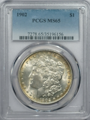New Certified Coins 1902 MORGAN DOLLAR – PCGS MS-65 FRESH & PREMIUM QUALITY!