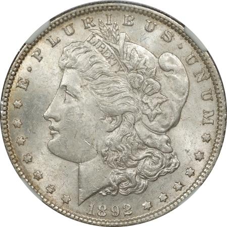 New Certified Coins 1892 MORGAN DOLLAR – NGC MS-61, TOUGH DATE!