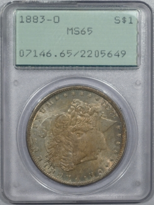 New Certified Coins 1883-O MORGAN DOLLAR – PCGS MS-65 RATTLER! ORIGINAL AND PREMIUM QUALITY!