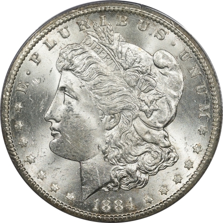 New Certified Coins 1884-CC MORGAN DOLLAR – PCGS MS-62 CAC APROVED! RATTLER!