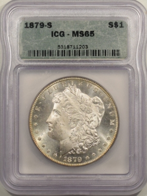 New Certified Coins 1879-S MORGAN DOLLAR – ICG MS-65