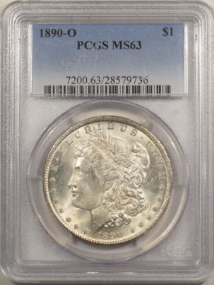 Morgan Dollars 1890-O MORGAN DOLLAR – PCGS MS-63 BLAST WHITE