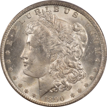 New Certified Coins 1890-O MORGAN DOLLAR – PCGS MS-63 BLAST WHITE