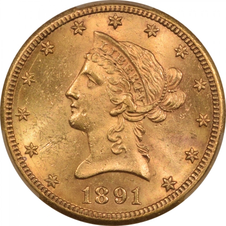 New Certified Coins 1891-CC $10 LIBERTY GOLD EAGLE – PCGS MS-63 FRESH & CHOICE! CARSON CITY GOLD!