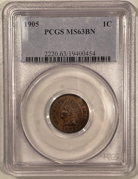 Indian 1905 INDIAN CENT – PCGS MS-63 BN