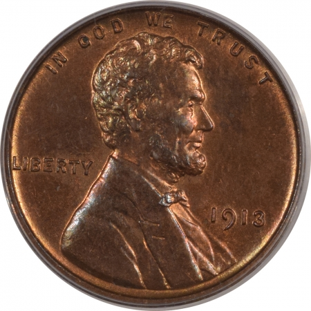 New Certified Coins 1913 MATTE PROOF LINCOLN CENT – PCGS PR-64 RB CAC, LOOKS 65 PREMIUM QUALITY!