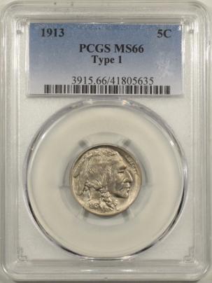 Buffalo Nickels 1913 BUFFALO NICKEL TY I – PCGS MS-66