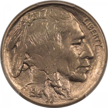 New Certified Coins 1914-D BUFFALO NICKEL – PCGS AU-58 PREMIUM QUALITY!