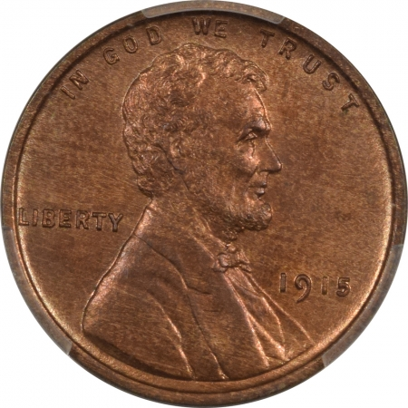 New Certified Coins 1915 MATTE PROOF LINCOLN CENT – PCGS PR-63 RB PREMIUM QUALITY! CAC APPROVED!