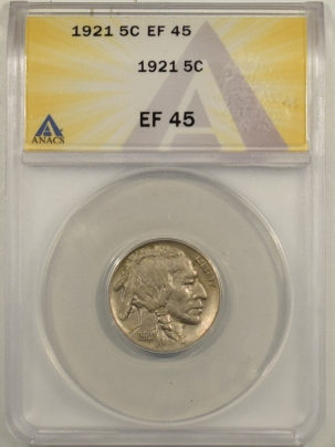 New Certified Coins 1921 BUFFALO NICKEL – ANACS EF-45