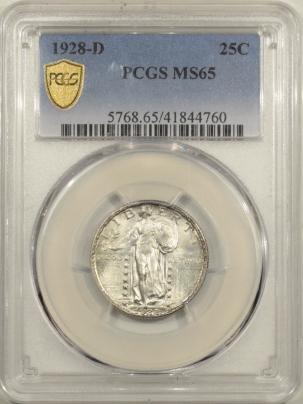 New Certified Coins 1928-D STANDING LIBERTY QUARTER – PCGS MS-65 FRESH GEM WELL STRUCK!