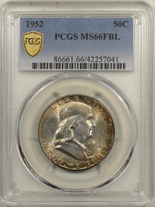 Coin World/Numismatic News Featured Coins 1952 FRANKLIN HALF DOLLAR PCGS MS-66 FBL
