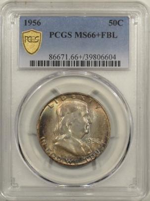 New Certified Coins 1956 FRANKLIN HALF DOLLAR PCGS MS-66+ FBL, FRESH & NICE!