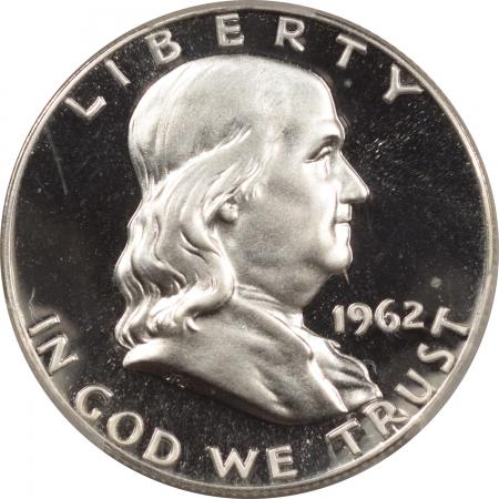 New Certified Coins 1962 PROOF FRANKLIN HALF DOLLAR – PCGS PR-67 CAM PREMIUM QUALITY!