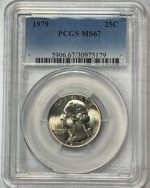 New Certified Coins 1979 WASHINGTON QUARTER – PCGS MS-67, PRISTINE GEM, TOUGH!