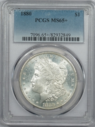 Coin World/Numismatic News Featured Coins 1880 MORGAN DOLLAR – PCGS MS-65+ BLAST WHITE