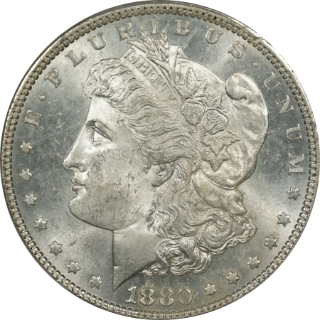 New Certified Coins 1880 MORGAN DOLLAR – PCGS MS-65+ BLAST WHITE