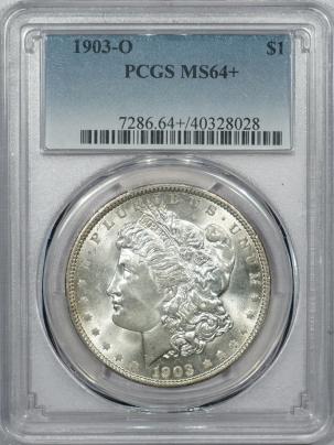 New Certified Coins 1903-O MORGAN DOLLAR – PCGS MS-64+, FRESH WHITE & VIRTUALLY GEM!