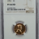 Lincoln Cents (Wheat) 1951 PROOF LINCOLN CENT – NGC PF-66 RD