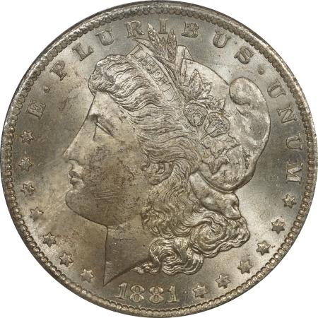 New Certified Coins 1881-CC MORGAN DOLLAR – PCGS MS-64, ORIGINAL! PREMIUM QUALITY! RATTLER!