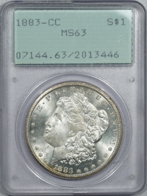 New Certified Coins 1883-CC MORGAN DOLLAR – PCGS MS-63 RATTLER!