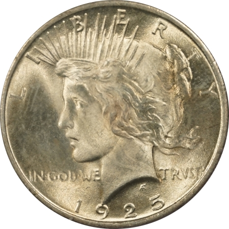 New Certified Coins 1925 PEACE DOLLAR – PCGS MS-65 LOOKS MS-66! PREMIUM QUALITY! RATTLER!