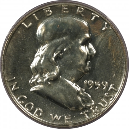 New Certified Coins 1959 PROOF FRANKLIN HALF DOLLAR – PCGS PR-65 RATTLER!