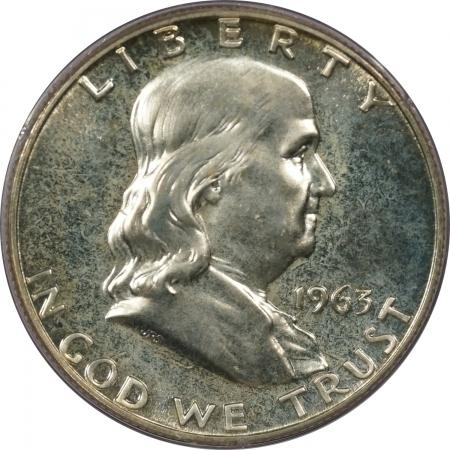 New Certified Coins 1963 PROOF FRANKLIN HALF DOLLAR – PCGS PR-66 RATTLER!