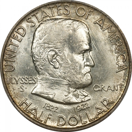 New Certified Coins 1922 GRANT COMMEMORATIVE HALF DOLLAR – PCGS MS-65 PREMIUM QUALITY! LOOKS MS-66+!