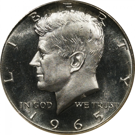 New Certified Coins 1965 SMS KENNEDY HALF DOLLAR PCGS MS-67 STAR, LOOKS CAMEO