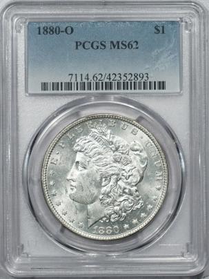 Morgan Dollars 1880-O MORGAN DOLLAR – PCGS MS-62