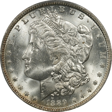 New Certified Coins 1889-O MORGAN DOLLAR – PCGS MS-64 FLASHY & PREMIUM QUALITY!