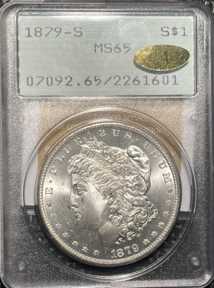 New Certified Coins 1879-S MORAGN DOLLAR – PCGS MS-65, GOLD CAC & MS-67 QUALITY! RATTLER!