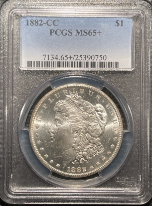 Coin World/Numismatic News Featured Coins 1882-CC MORGAN DOLLAR – PCGS MS-65+, PREMIUM QUALITY!