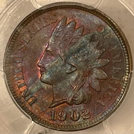 New Certified Coins 1902 INDIAN CENT – PCGS MS-63 BN, PRETTY!