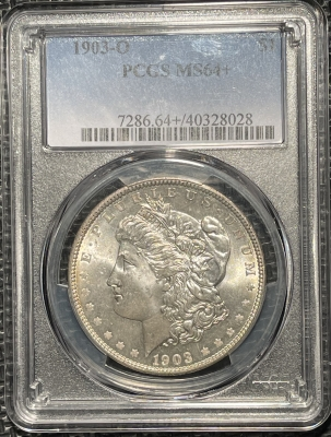 New Certified Coins 1903-O MORGAN DOLLAR – PCGS MS-64+