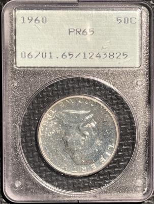 New Certified Coins 1960 PROOF FRANKLIN HALF DOLLAR – PCGS PR-65 RATTLER!