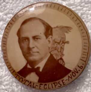 """Pre-1920 EXTREMELY RARE WILLIAM BRYAN ECLIPSE 1 1/4"""" CELLO BUTTON, NR MINT, UNIMPROVABLE!"""