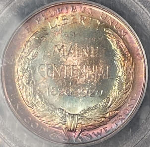 Coin World/Numismatic News Featured Coins 1920 MAINE COMMEMORATIVE HALF DOLLAR – PCGS MS-64 STUNNING!