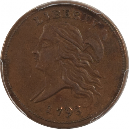 CAC Approved Coins 1793 LIBERTY CAP HALF CENT – PCGS AU-55 CAC APPROVED!
