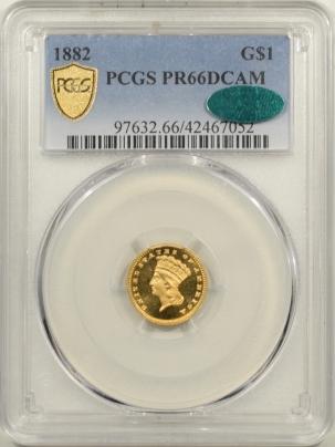 $1 1882 $1 PROOF GOLD DOLLAR PCGS PR-66 DCAM CAC, FRESH & PQ! ORIGINAL MINTAGE 125