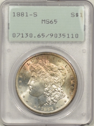 New Certified Coins 1881-S MORGAN DOLLAR – PCGS MS-65 PREMIUM QUALITY!