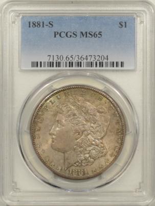 Morgan Dollars 1881-S MORGAN DOLLAR – PCGS MS-65 DMPL REVERSE!