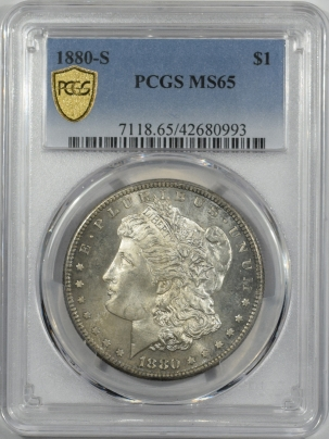 New Certified Coins 1880-S MORGAN DOLLAR – PCGS MS-65