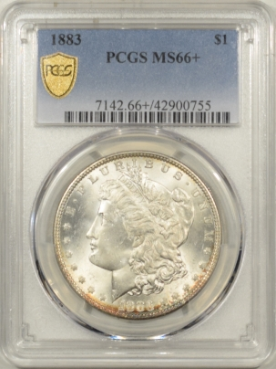 New Certified Coins 1883 MORGAN DOLLAR – PCGS MS-66+ PREMIUM QUALITY!