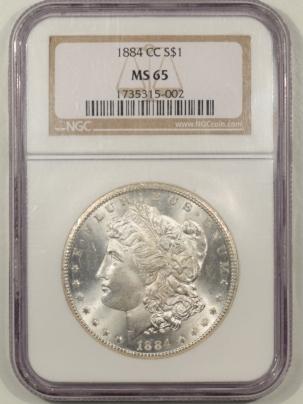 Morgan Dollars 1884-CC MORGAN DOLLAR – NGC MS-65 PREMIUM QUALITY!