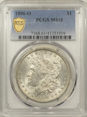 New Certified Coins 1886-O MORGAN DOLLAR – PCGS MS-61
