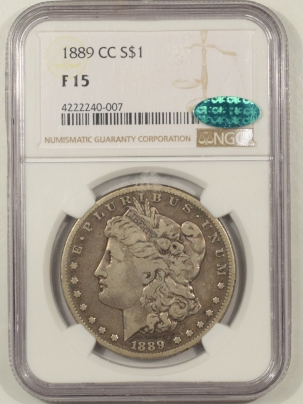 New Certified Coins 1889-CC MORGAN DOLLAR – NGC F-15, CAC APPROVED!