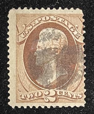 U.S. Stamps SCOTT #135 – USED, AVERAGE W/ MINOR CREASES, CATALOG VALUE $75!