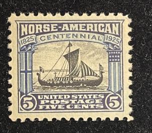 U.S. Stamps SCOTT #621 5c DARK BLUE/BLACK, MOG NH, VF+ & VIRTUALLY SUPERB, PO FRESH! CAT $19